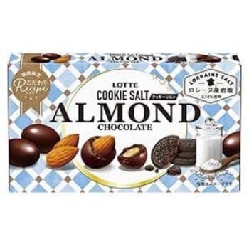 Соленый шоколад Миндальное печенье Lotte  Almond Chocolate Cookie Salt 81g