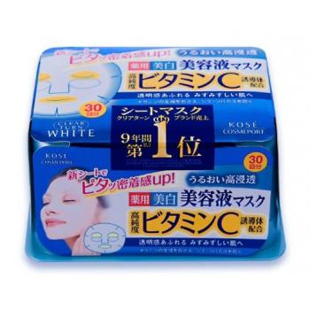 Отбеливающая  маска для лица с витамином С  Kose Mask Vitamin C