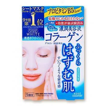 Антивозрастная маска с коллагеном Kose Cosmeport Collagen Mask