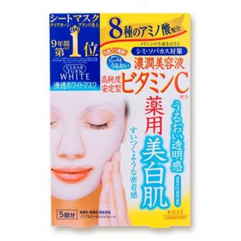 Тонизирующая маска для лица с витамином С Kose Vitamin C Mask