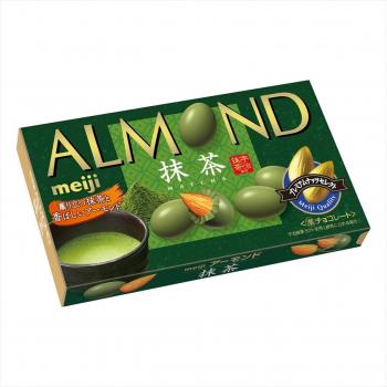 MEIJI Цельный миндаль в шоколаде со вкусом  японского чая матча