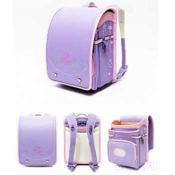 Bidasu School Bag Automatic Lock Luxurious Embroidery -ортопедический японский  ранец Рандосеру для девочки розовый