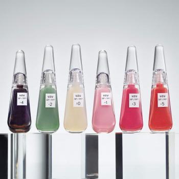 LIP TREATMENT FLOWFUSHI 38℃  ±0 - прозрачный блеск для губ, придает жемчужное сияние