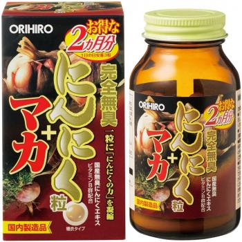 Orihiro Мака и Чёрный чеснок для повышения иммунитета и защитных сил организма