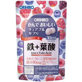 Комплекс железо+фолиевая кислота для повышения гемоглобина и профилактики анемии Orihiro Iron + Folic Acid