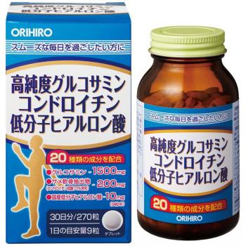 ORIHIRO Комплекс с глюкозамином, хондроитином и низкомолекулярной гиалуроновой кислотой, для здоровья костей и суставов.