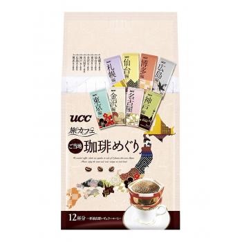 UCC TABI CAFE  DRIP LOCAL TOUR -ассорти кофе ,,Путешествие по Японии,, 12 шт