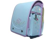 Bidasu School Bag Automatic Lock Luxurious Embroidery -ортопедический японский  ранец Рандосеру  для девочки сиреневый