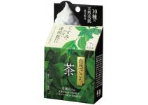 Натуральное мыло для лица с зелёным чаем Natural Gokochi Tea Face Wash Soap