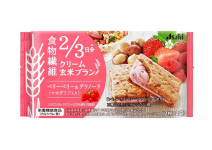 CREAM BROWN RICE BLANC - диетическое рисовое печенье с кремовой  клубничной начинкой